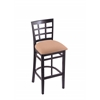 "Holland Bar Stool Co. 3130  25"" Stool with Black Finish, Axis Summer Seat"