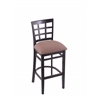 "Holland Bar Stool Co. 3130  30"" Stool with Black Finish, Axis Willow Seat"