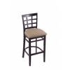 "Holland Bar Stool Co. 3130  25"" Stool with Black Finish, Rein Thatch Seat"