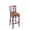 "3130 25"" Stool with Dark Cherry Finish, Allante Beechwood Seat"