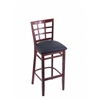 "3130 30"" Stool with Dark Cherry Finish, Allante Dark Blue Seat"
