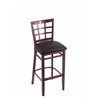 "3130 25"" Stool with Dark Cherry Finish, Allante Espresso Seat"