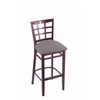 "3130 25"" Stool with Dark Cherry Finish, Allante Medium Grey Seat"