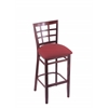"3130 25"" Stool with Dark Cherry Finish, Allante Wine Seat"