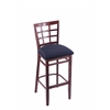 "3130 25"" Stool with Dark Cherry Finish, Axis Denim Seat"