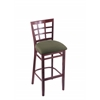 "Holland Bar Stool Co. 3130  30"" Stool with Dark Cherry Finish, Axis Grove Seat"
