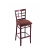 "3130 25"" Stool with Dark Cherry Finish, Axis Paprika Seat"