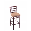 "3130 25"" Stool with Dark Cherry Finish, Axis Summer Seat"