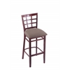 "3130 30"" Stool with Dark Cherry Finish, Axis Truffle Seat"