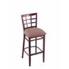 "3130 25"" Stool with Dark Cherry Finish, Axis Willow Seat"