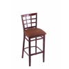 "3130 25"" Stool with Dark Cherry Finish, Rein Adobe Seat"