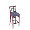 "Holland Bar Stool Co. 3130  25"" Stool with Dark Cherry Finish, Rein Bay Seat"