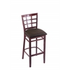 "3130 25"" Stool with Dark Cherry Finish, Rein Coffee Seat"