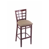 "3130 25"" Stool with Dark Cherry Finish, Rein Thatch Seat"