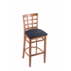 "Holland Bar Stool Co. 3130  25"" Stool with Medium Finish, Allante Dark Blue Seat"
