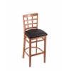 "Holland Bar Stool Co. 3130  30"" Stool with Medium Finish, Allante Espresso Seat"