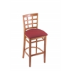"Holland Bar Stool Co. 3130  25"" Stool with Medium Finish, Allante Wine Seat"