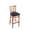 "3130 25"" Stool with Medium Finish, Axis Denim Seat"