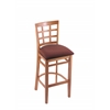 "3130 25"" Stool with Medium Finish, Axis Paprika Seat"