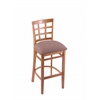 "Holland Bar Stool Co. 3130  25"" Stool with Medium Finish, Axis Willow Seat"