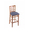 "Holland Bar Stool Co. 3130  30"" Stool with Medium Finish, Rein Bay Seat"
