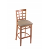 "3130 25"" Stool with Medium Finish, Rein Thatch Seat"