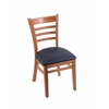 "Holland Bar Stool Co. 3140  18"" Chair with Medium Finish, Allante Dark Blue Seat"