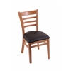 "Holland Bar Stool Co. 3140  18"" Chair with Medium Finish, Allante Espresso Seat"