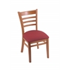 "Holland Bar Stool Co. 3140  18"" Chair with Medium Finish, Allante Wine Seat"