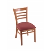 "Holland Bar Stool Co. 3140  18"" Chair with Medium Finish, Axis Paprika Seat"