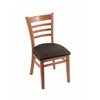 "Holland Bar Stool Co. 3140  18"" Chair with Medium Finish, Rein Coffee Seat"
