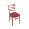 "3140 18"" Chair with Natural Finish, Allante Wine Seat"