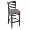 "Holland Bar Stool Co. 3140  25"" Stool with Black Finish, Allante Medium Grey Seat"