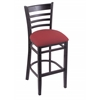 "Holland Bar Stool Co. 3140  25"" Stool with Black Finish, Allante Wine Seat"