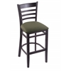 "Holland Bar Stool Co. 3140  25"" Stool with Black Finish, Axis Grove Seat"