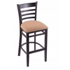 "Holland Bar Stool Co. 3140  25"" Stool with Black Finish, Axis Summer Seat"