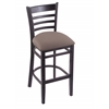 "3140 30"" Stool with Black Finish, Axis Truffle Seat"