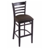"Holland Bar Stool Co. 3140  25"" Stool with Black Finish, Rein Coffee Seat"