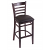 "3140 25"" Stool with Dark Cherry Finish, Allante Espresso Seat"