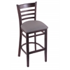 "3140 25"" Stool with Dark Cherry Finish, Allante Medium Grey Seat"