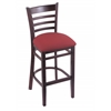 "3140 25"" Stool with Dark Cherry Finish, Allante Wine Seat"