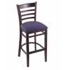 "Holland Bar Stool Co. 3140  25"" Stool with Dark Cherry Finish, Axis Denim Seat"