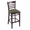 "3140 25"" Stool with Dark Cherry Finish, Axis Grove Seat"