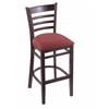 "3140 25"" Stool with Dark Cherry Finish, Axis Paprika Seat"