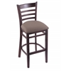 "3140 25"" Stool with Dark Cherry Finish, Axis Truffle Seat"