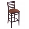 "3140 25"" Stool with Dark Cherry Finish, Rein Adobe Seat"