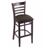 "3140 25"" Stool with Dark Cherry Finish, Rein Coffee Seat"