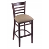"3140 25"" Stool with Dark Cherry Finish, Rein Thatch Seat"