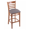 "Holland Bar Stool Co. 3140  25"" Stool with Medium Finish, Allante Medium Grey Seat"