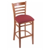 "Holland Bar Stool Co. 3140  25"" Stool with Medium Finish, Allante Wine Seat"